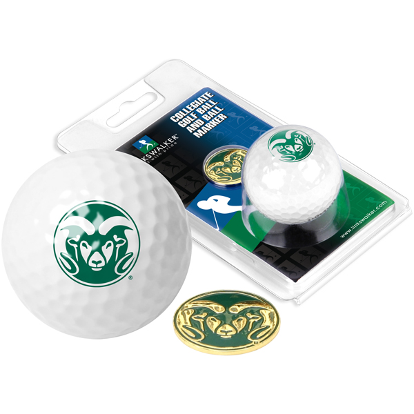 Image For Colorado State University Golf Ball with Ball Marker