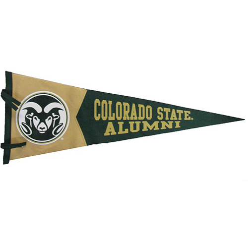Cover Image For Colorado State University Green & Gold Alumni Pennant