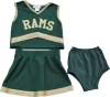 Image for Green CSU Infant/Toddler Cheerleader Outfit