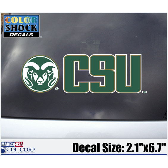 Cover Image For Colorado State University Ram CSU Decal