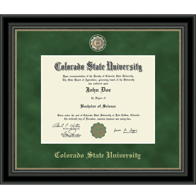 Image For CSU Regal Edition Diploma Frame in Noir