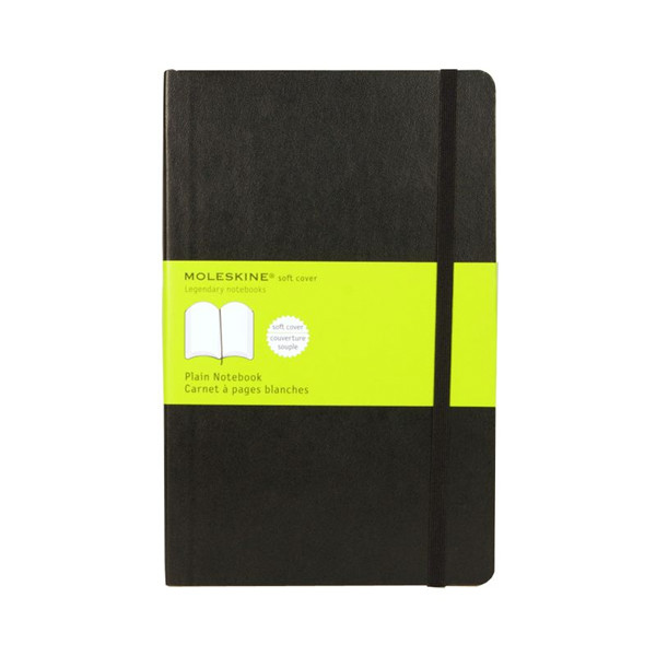 Image For Moleskine Black Classic Collection Soft Cover Plain Notebook