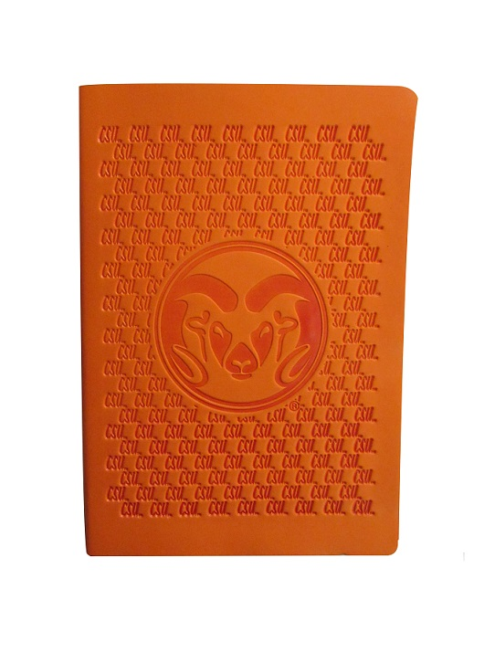Image For Orange Embossed Journal