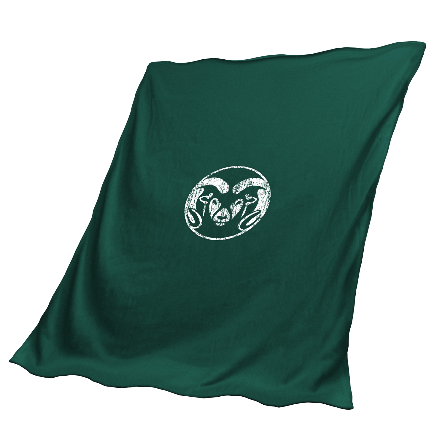 Cover Image For Green Colorado State University Sweatshirt Blanket