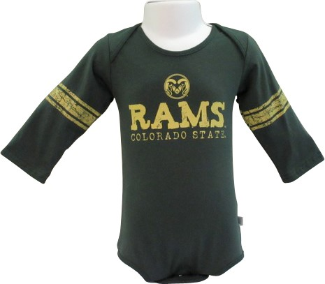 3bc80b5fd Hunter Long Sleeve CSU Rams Diaper Shirt