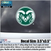 Small Green Colorado State University Ram Head Decal Image