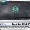 Image for Medium Green/White Colorado State University Ram Head Decal