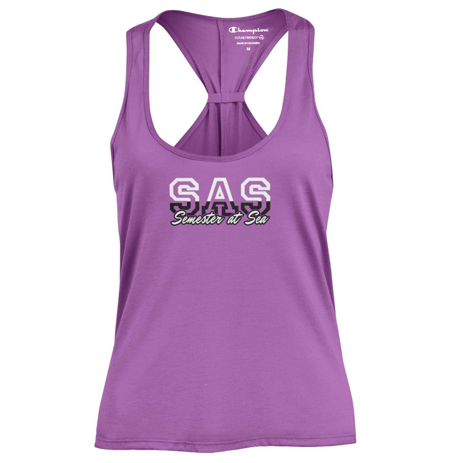 Image For Aurora Purple Women's Semester at Sea Swing Tank