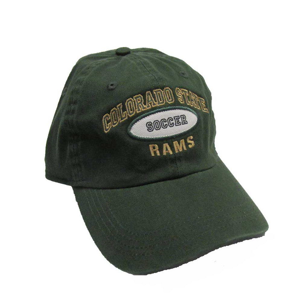 Image For Dark Green Colorado State University Soccer AHEAD Hat