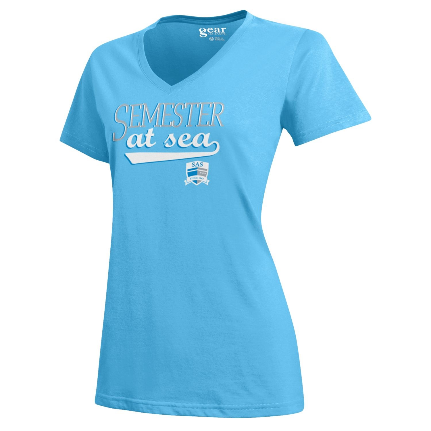 Image For Raindrop Blue Semester at Sea Women's Short Sleeve Tee