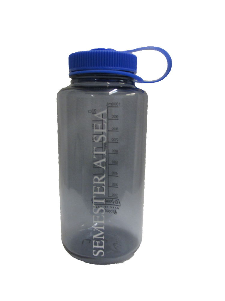 Cover Image For Smoke Semester At Sea 32 oz Nalgene Water Bottle