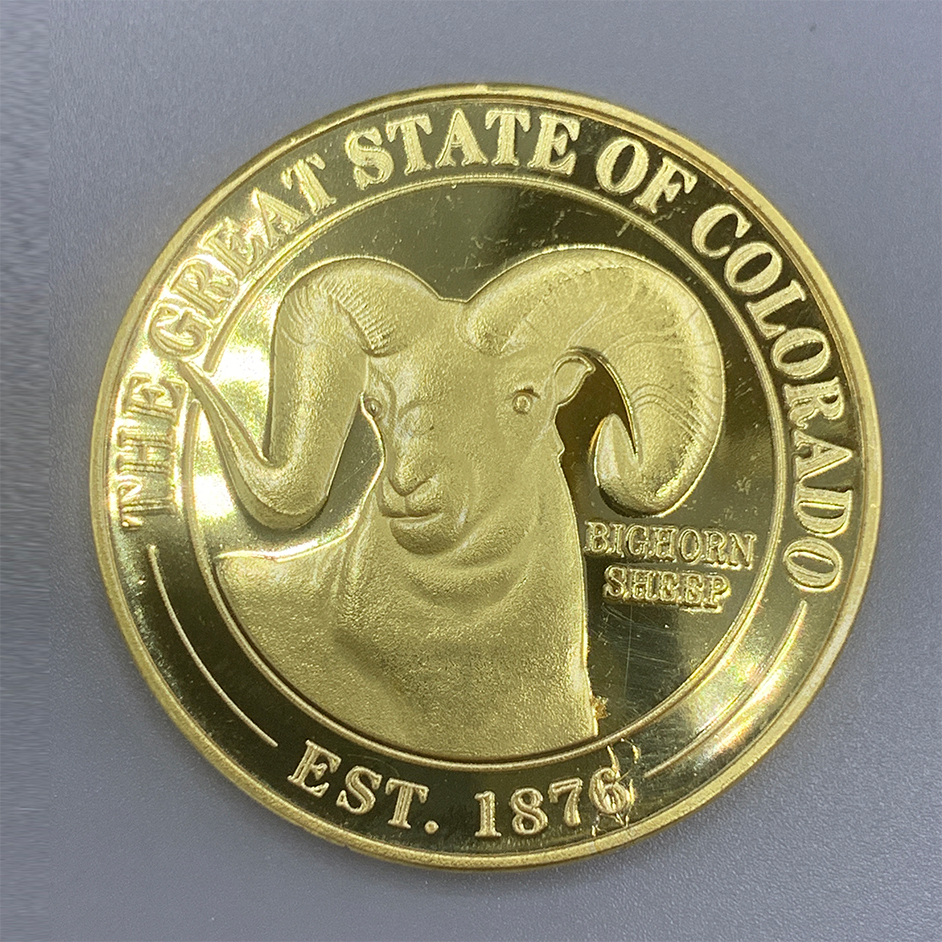 Image For Rocky Mountain Plated Gold Coin