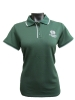 Women's Dark Green Colorado State Antigua Polo Image