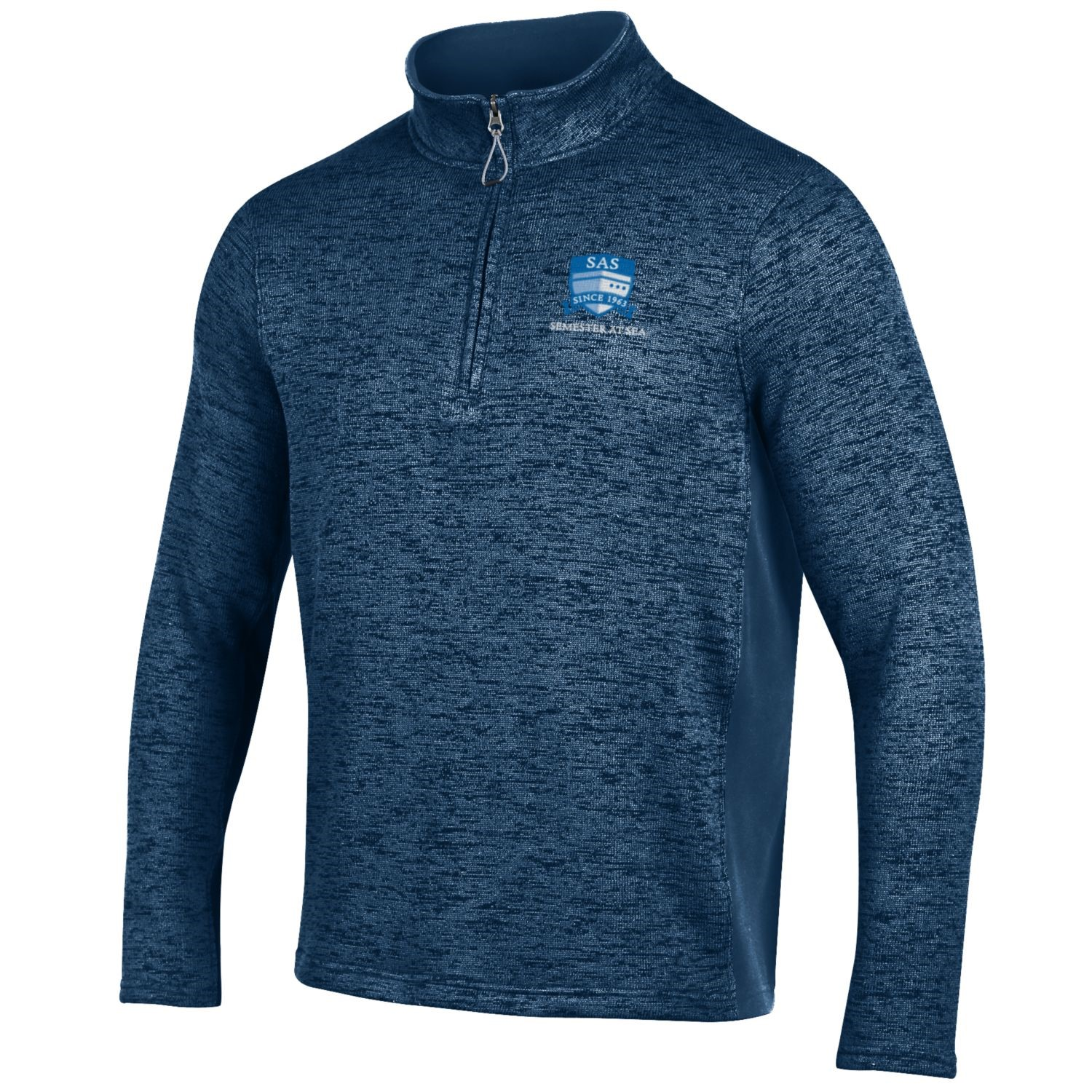 Image For Navy Semester At Sea 1/4 Zip Antigua Sweater