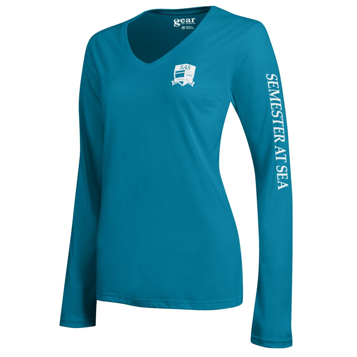 Cover Image For Teal Mia Long Sleeve Semester At Sea Gear Tee