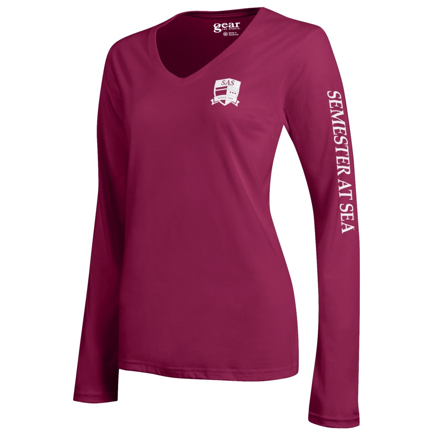 Image For Maroon Mia Long Sleeve Semester At Sea Gear Tee