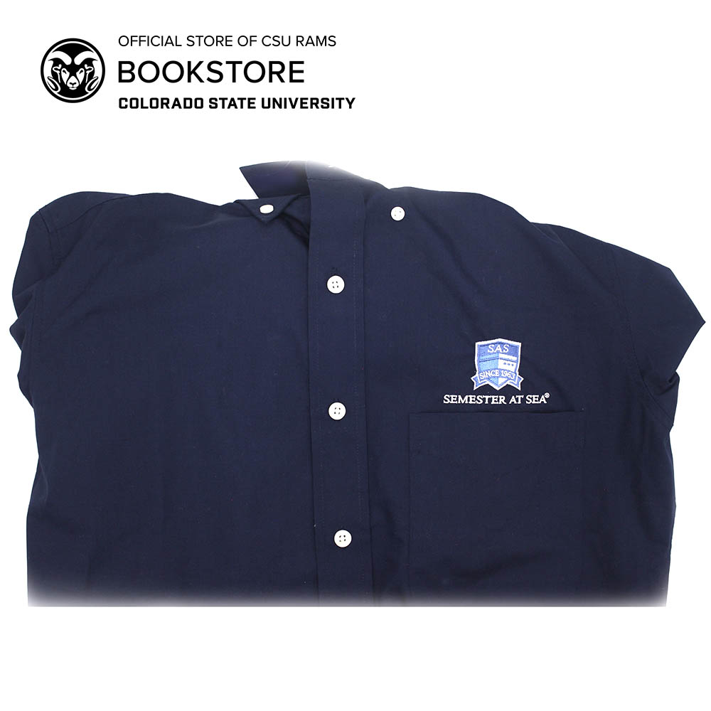 Cover Image For Antigua Dynasty Woven Semester at Sea Button Down Shirt