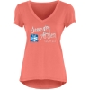 Image for Coral Liquid Jersey V-neck T-shirt