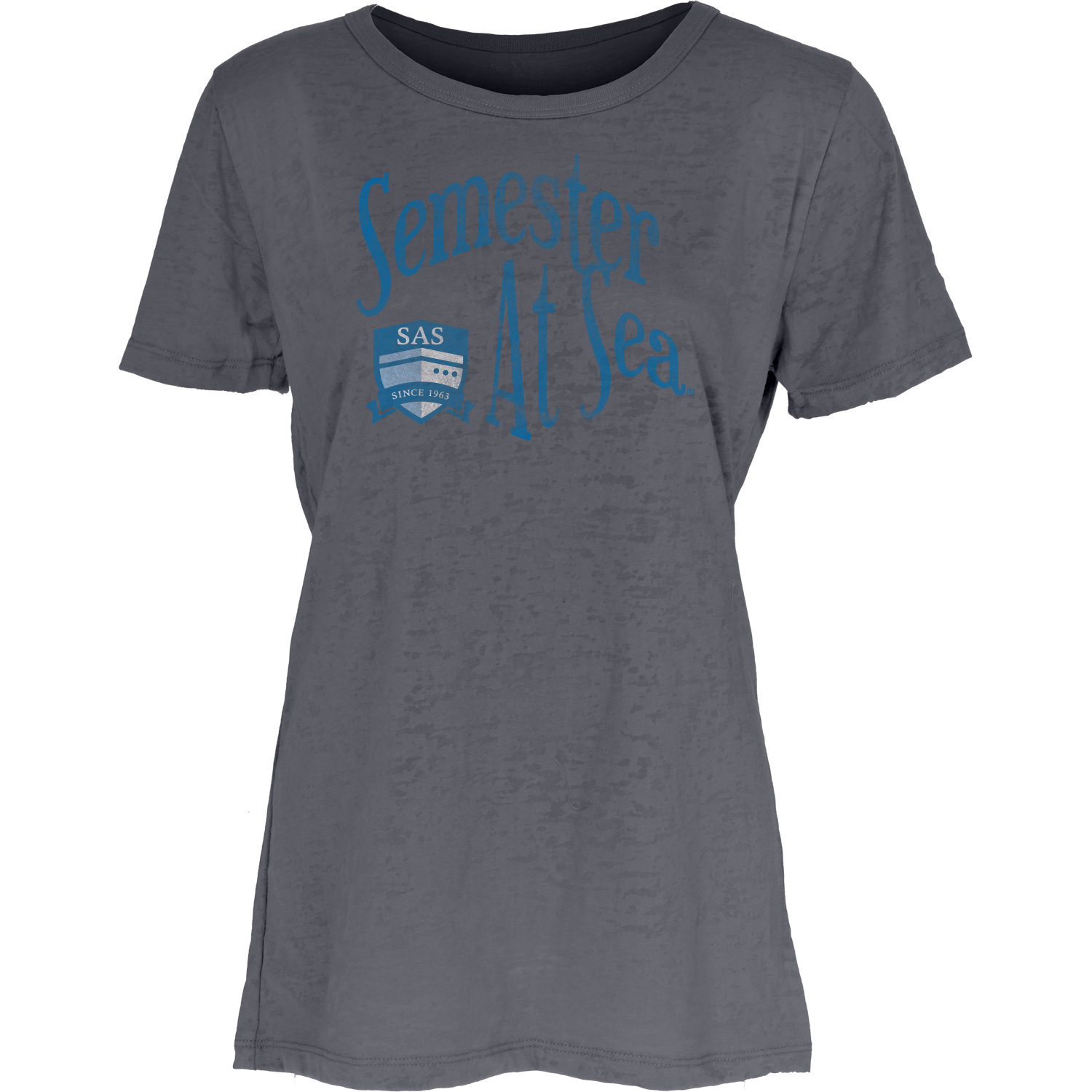 Image For Charcoal Semester At Sea Burnout Tee