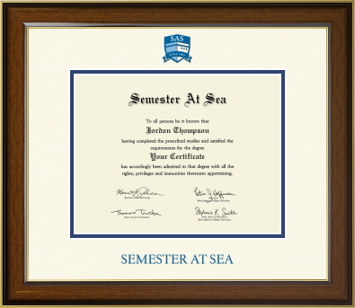 Image For Semester At Sea Westwood Certificate Frame