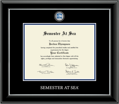 Cover Image For Semester at Sea Masterpiece Medallion Certificate Frame
