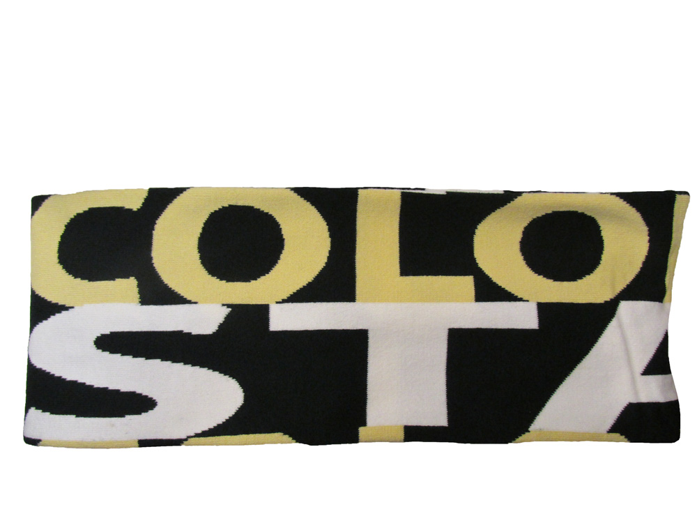 Cover Image For Green and Gold Colorado State Knit Scarf