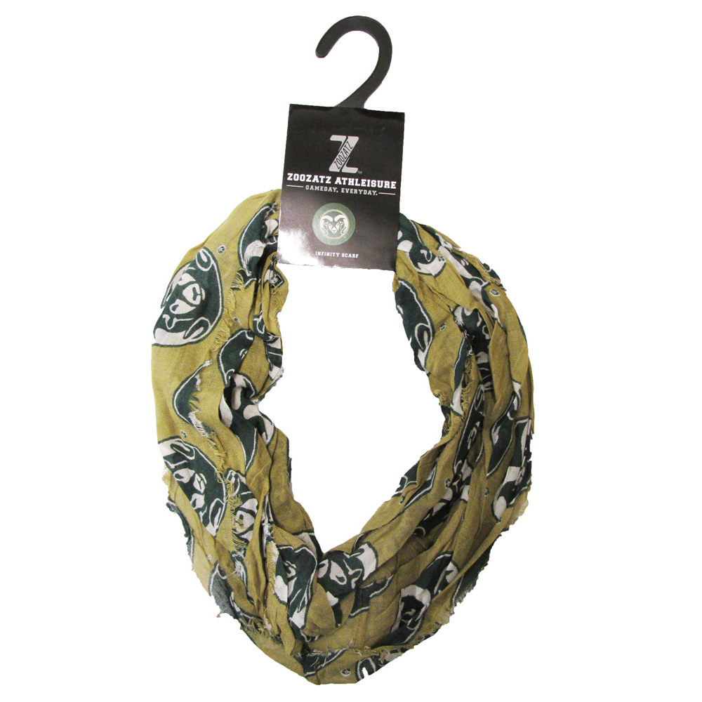 Image For Gold Ram Head Colorado State University Infinity Scarf