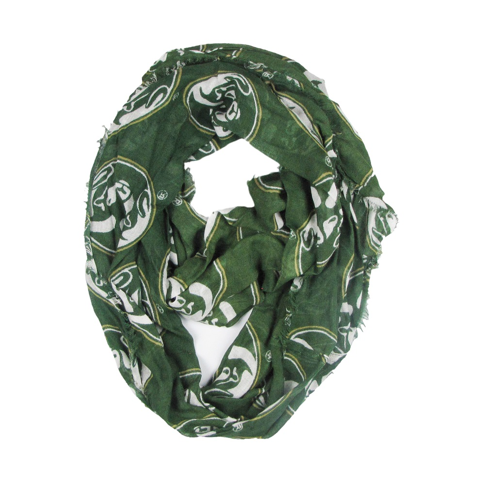 Image For Green Colorado State Ram Head Infinity Scarf