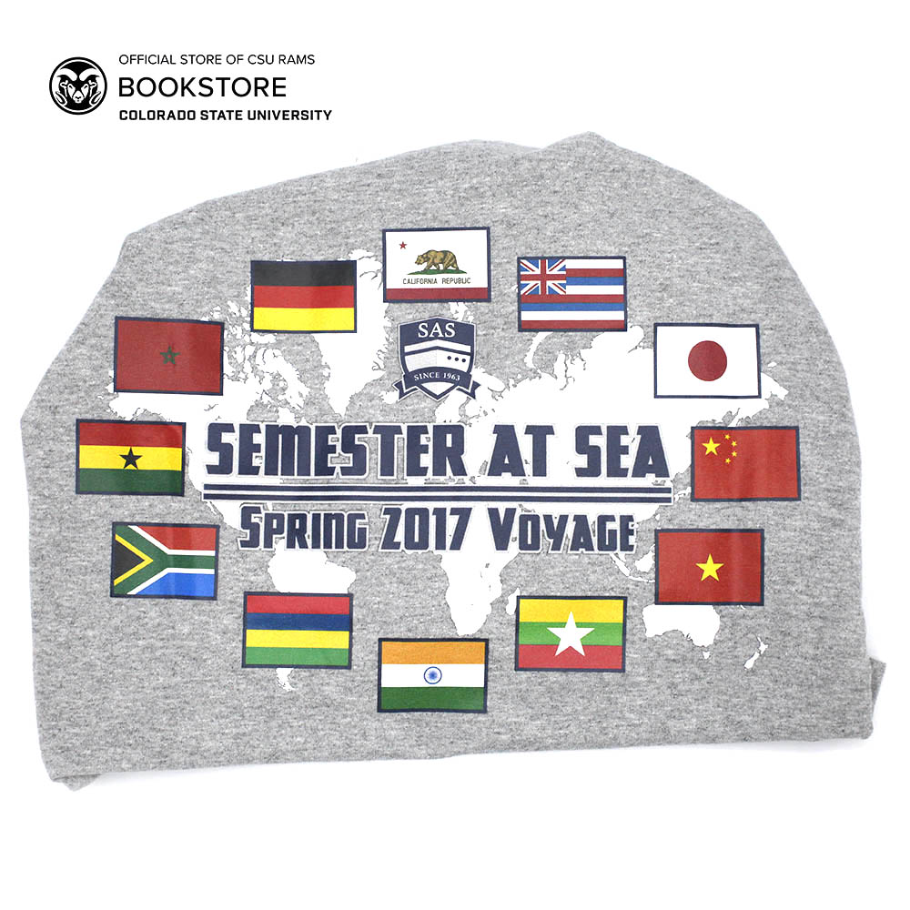 Image For Semester At Sea Spring 2017 Voyage Tee