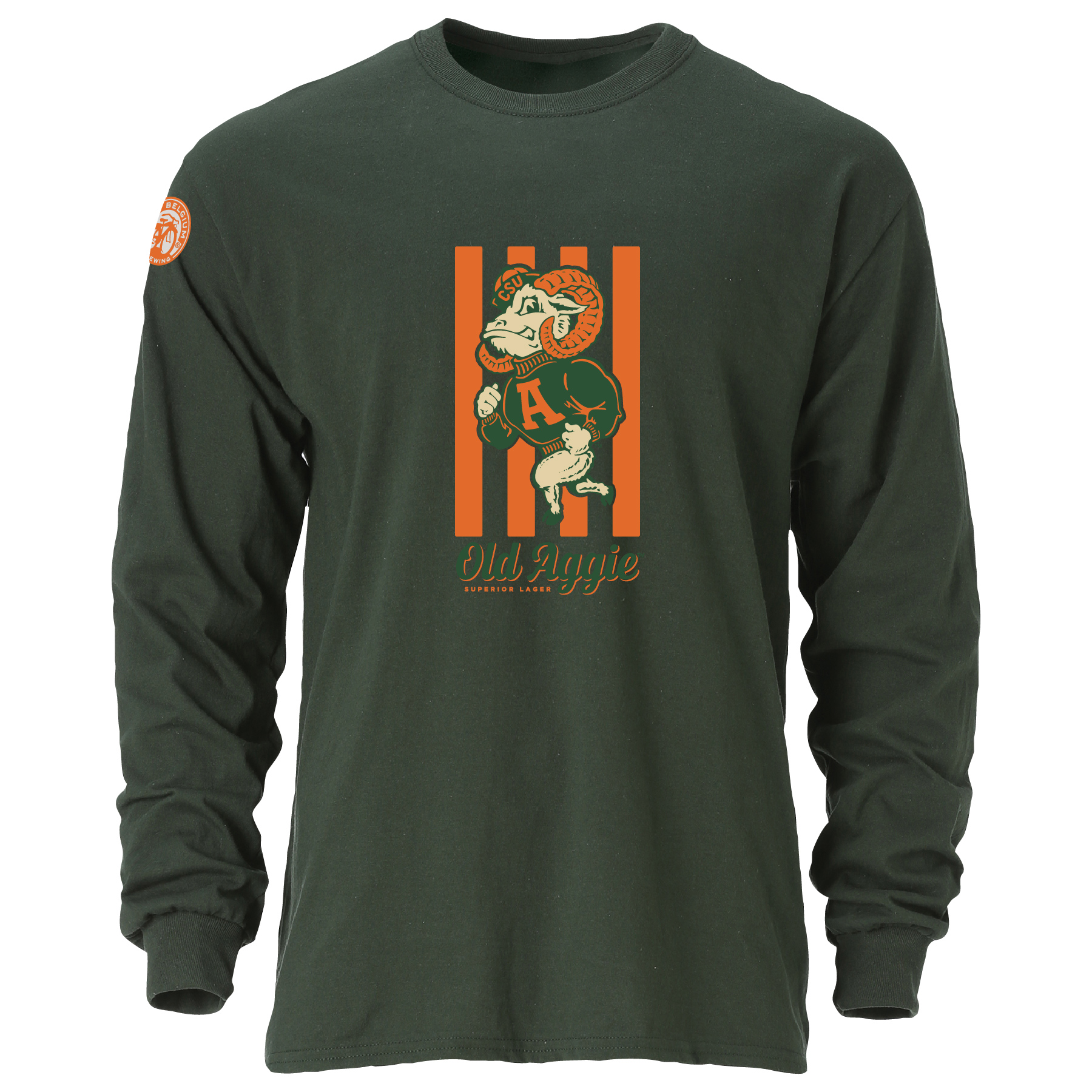 Image For Old Aggie Superior Lager Colorado State Long Sleeve Tee