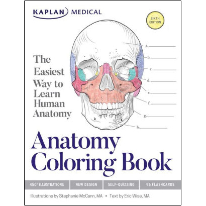 Cover Image For Anatomy Coloring Book by Kaplan