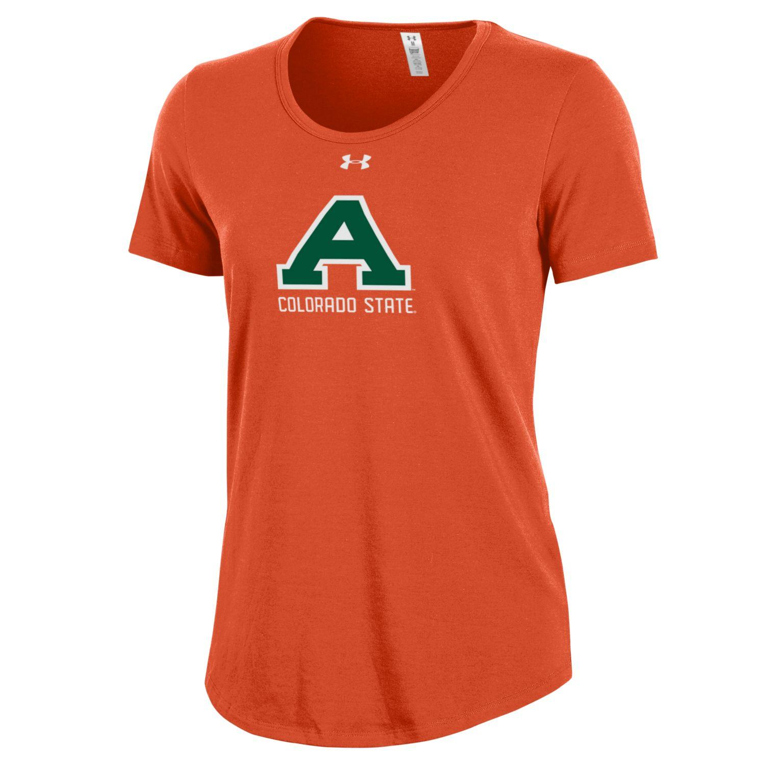 Cover Image For Orange Women's Colorado State Aggies Under Armour Tee