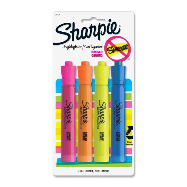 Cover Image For Sharpie Chisel Tip Highlighters 4 Pack