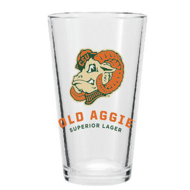 Image For Old Aggie Superior Lager Colorado State Pint Glass