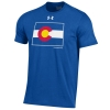 Men's Royal Blue Colorado State Pride Flag Under Armour Tee Image