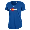 Image for Women's Royal Blue Colorado State Pride Flag UnderArmour Tee
