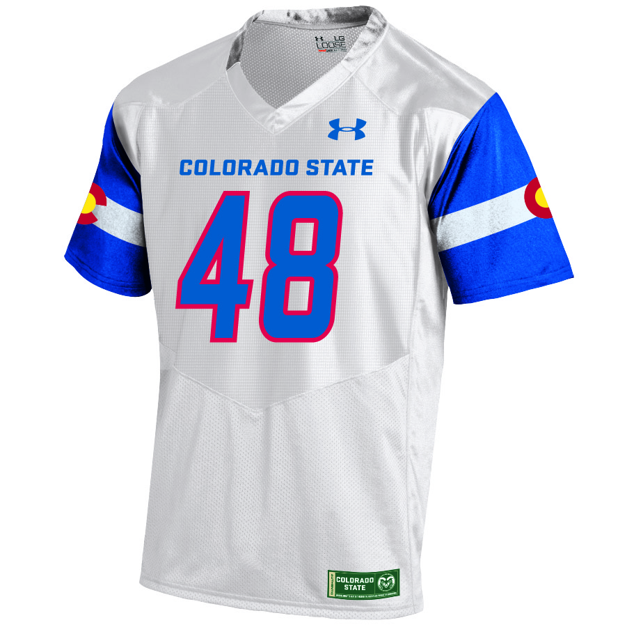 71089f0ee7 Image For White Colorado State Pride Under Armour Replica Jersey