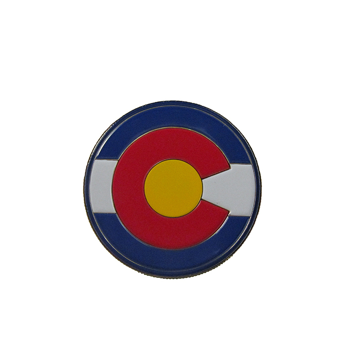 "Image For Colorado State University 1.5"" Coin with Colorado Flag"
