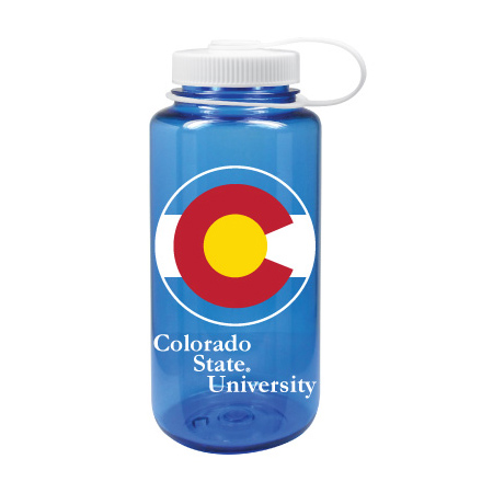Cover Image For Colorado State Pride 32 Oz Blue Nalgene Water Bottle