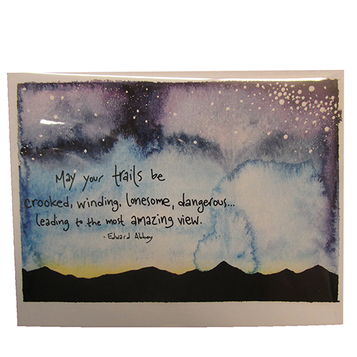 Image For Sunset with Quote Single Notecard by Conversketch