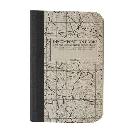 Cover Image For Topographic Map Pocket Sized Decomposition Book