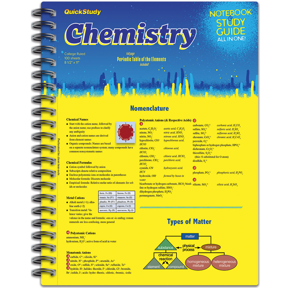 Image For Chemistry Study Guide Spiral Notebook