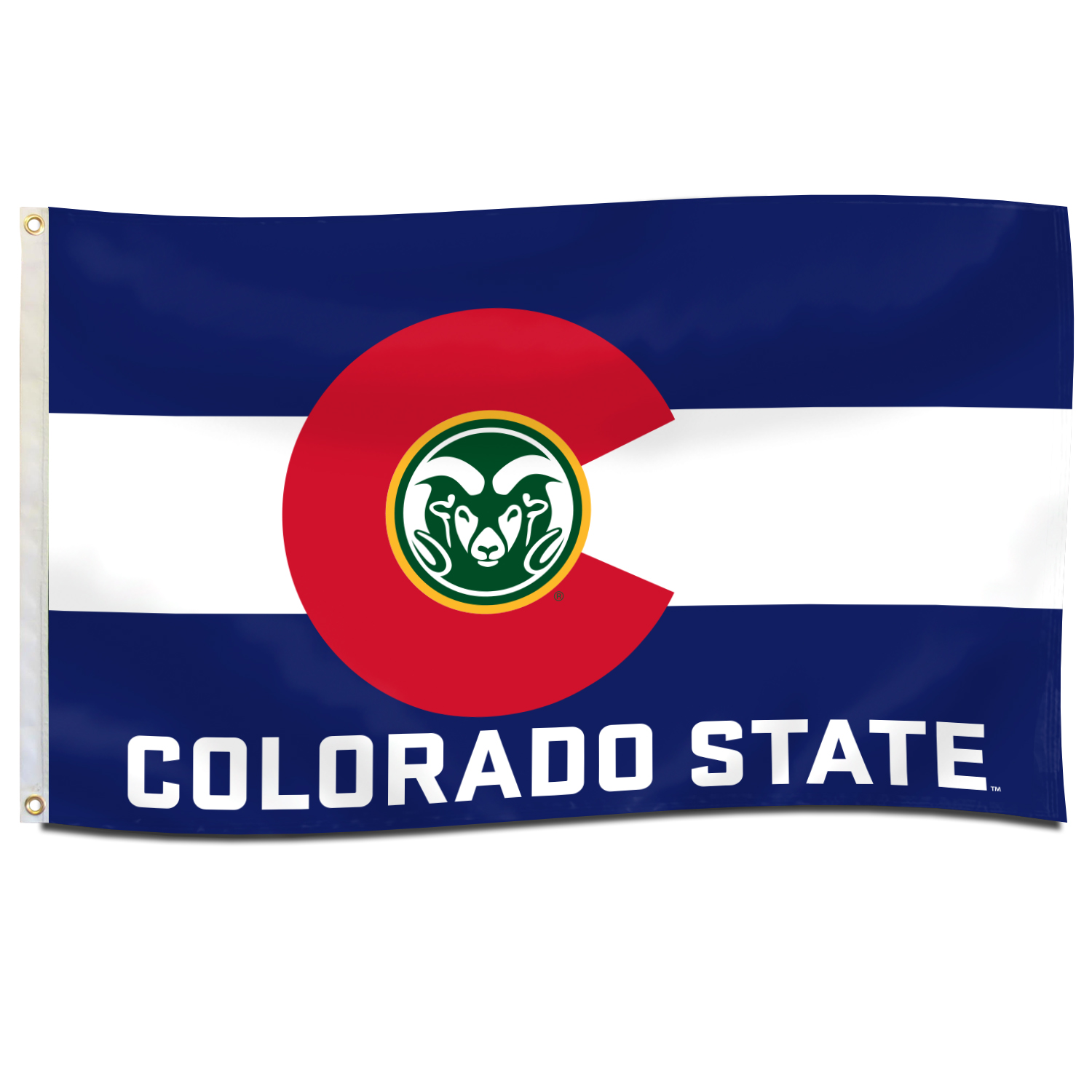Image For 3'x5' Blue and White Colorado State Flag