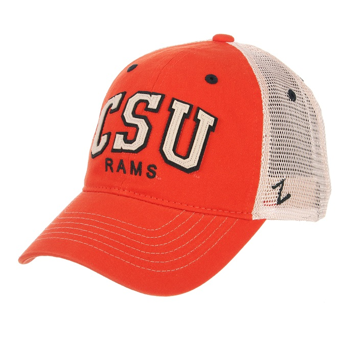 Image For CSU Rams Orange Washed Mesh Hat
