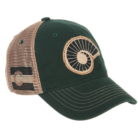 Image For Green Colorado State Rams Washed Mesh Hat