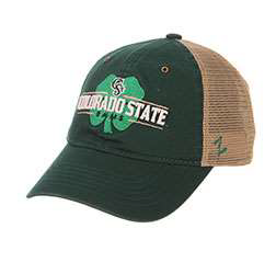 Image For Green Colorado State Rams Shamrock Hat by Zephyr