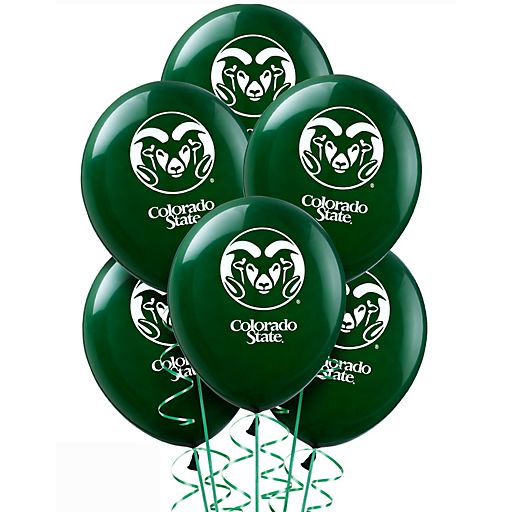 Image For Colorado State Rams Balloons 10 Count