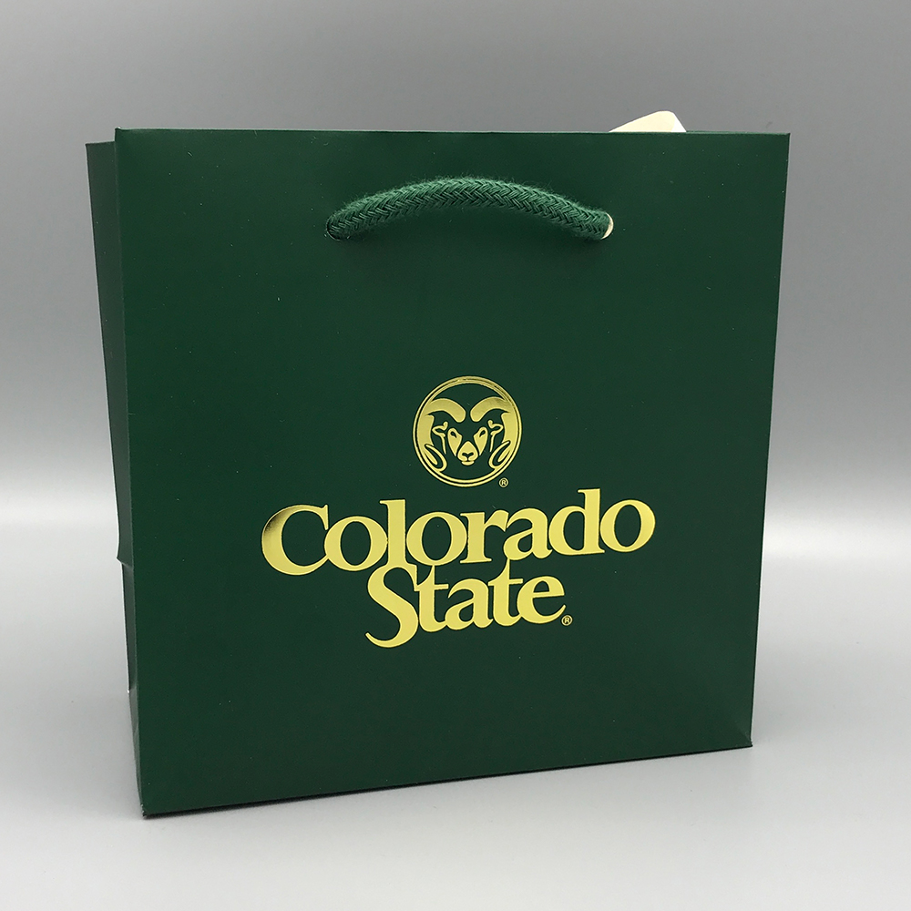 Cover Image For Small Green Colorado State University Gift Tote Bag