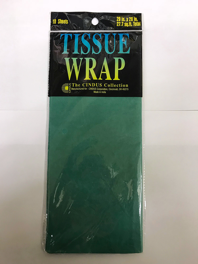 Cover Image For Green Wrapping Tissue Paper