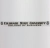 Image for Colorado State University College of Business Window Decal